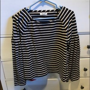 Striped cream and black Madewell top!